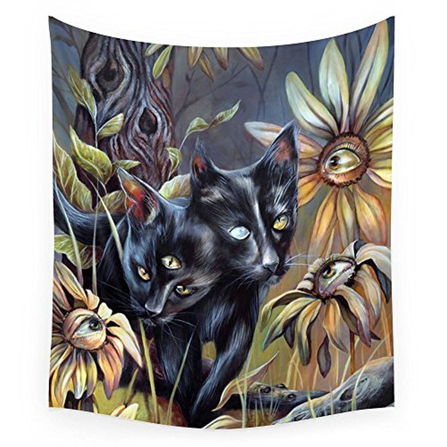 "Society6 Siamese Twins Wall Tapestry Small: 51"" x 60"""