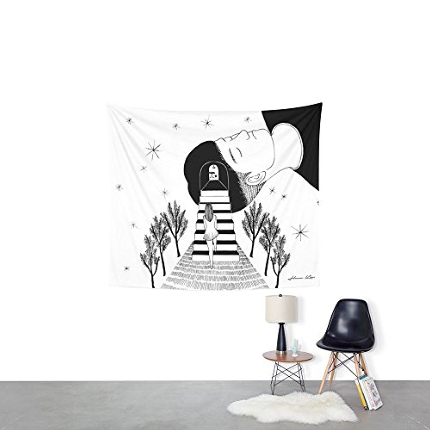 "Society6 Into Your Dream Wall Tapestry Small: 51"" x 60"""