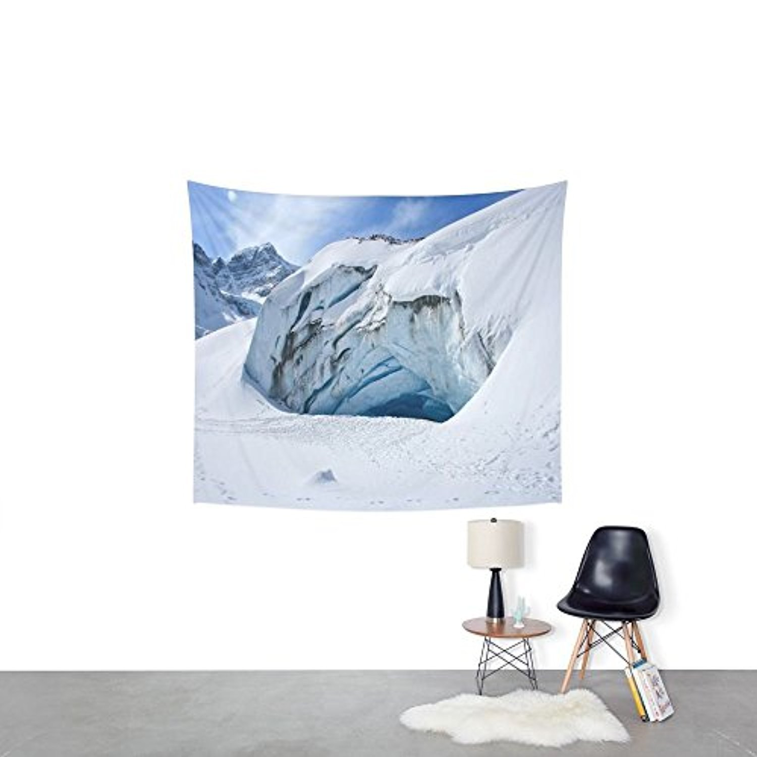 "Society6 Glacier Cave Wall Tapestry Small: 51"" x 60"""