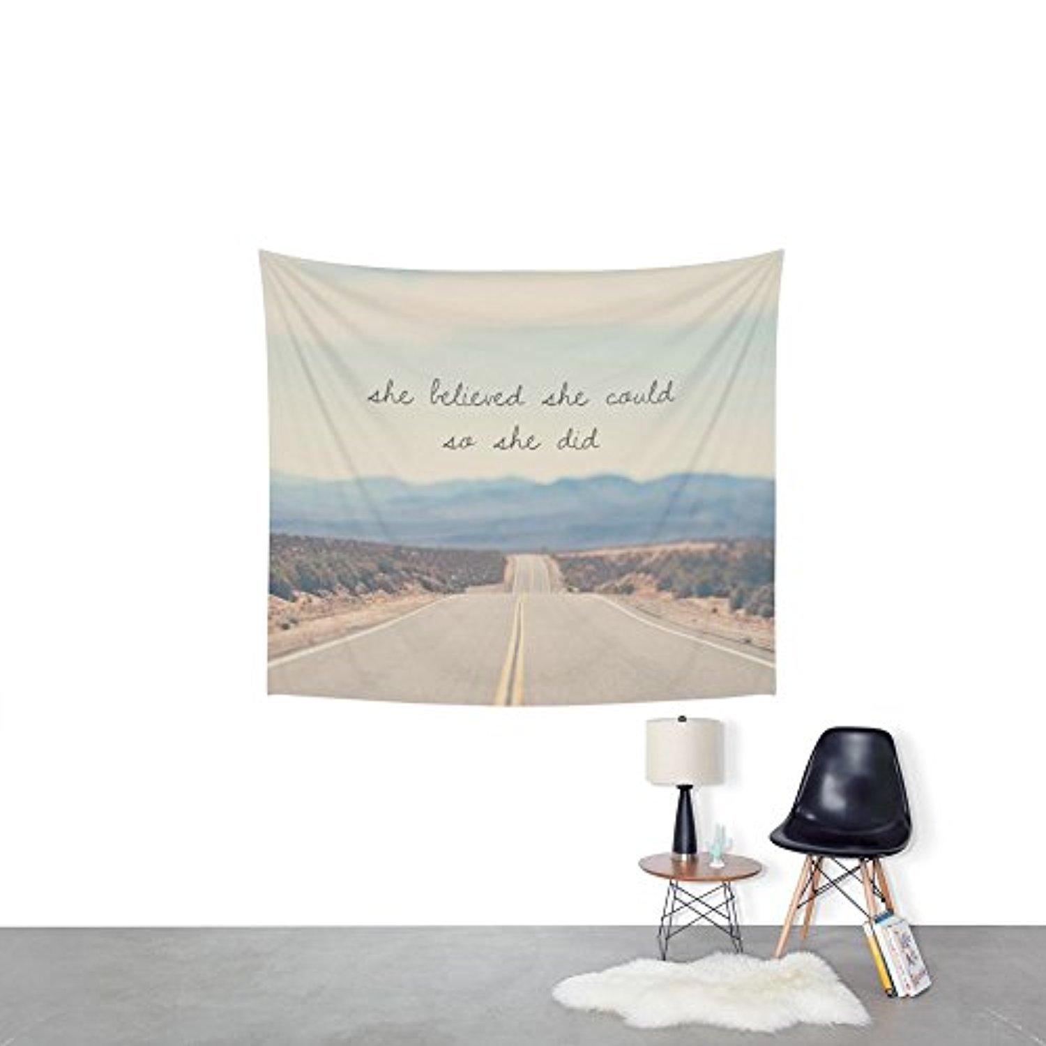 Society6 She Believed She Could So She Did Wall Tapestry