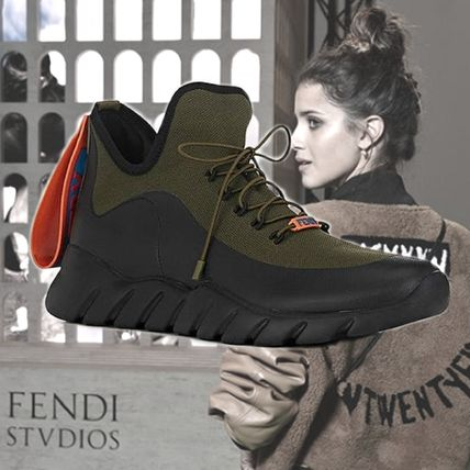 **FENDI**Rubber-Strap ラバーストラップ Tech-Knit Sneakers
