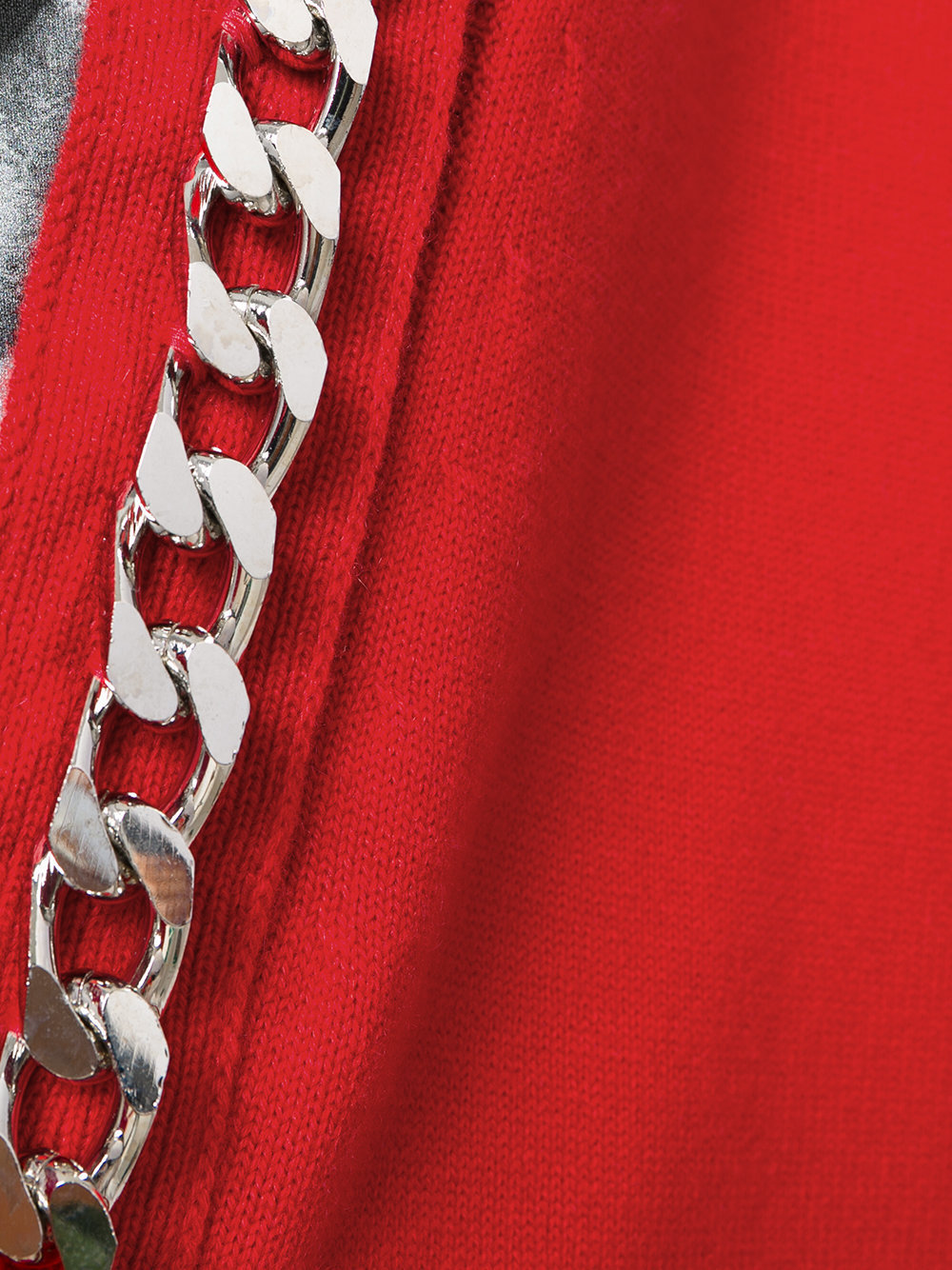 17-18AW G163 CHAIN EMBELLISHED CASHMERE CARDIGAN