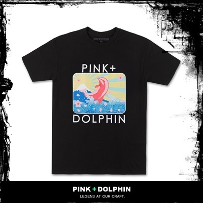 【PINK DOLPHIN】BLOSSOM PORTRAIT TEE IN BLACK