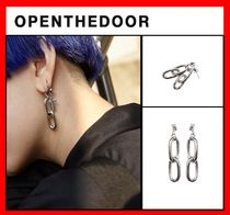 OPEN THE DOOR(オープンザドア) ピアス 韓国人気【OPEN THE DOOR】§★chain earring☆§ UNISEX §