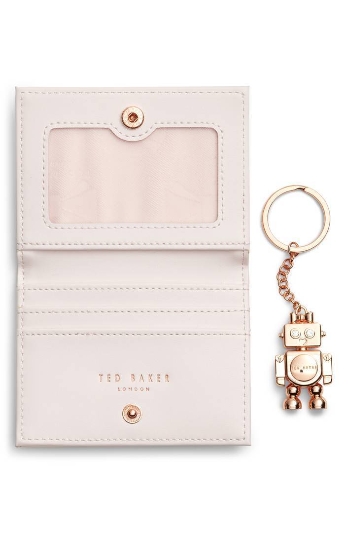 ~TED BAKER~ かわいいロボットキーチェーン付き♪カードケース♪
