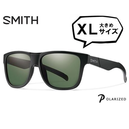 SMITH 偏光 Lowdown XL Matte Black Polarized Gray Green