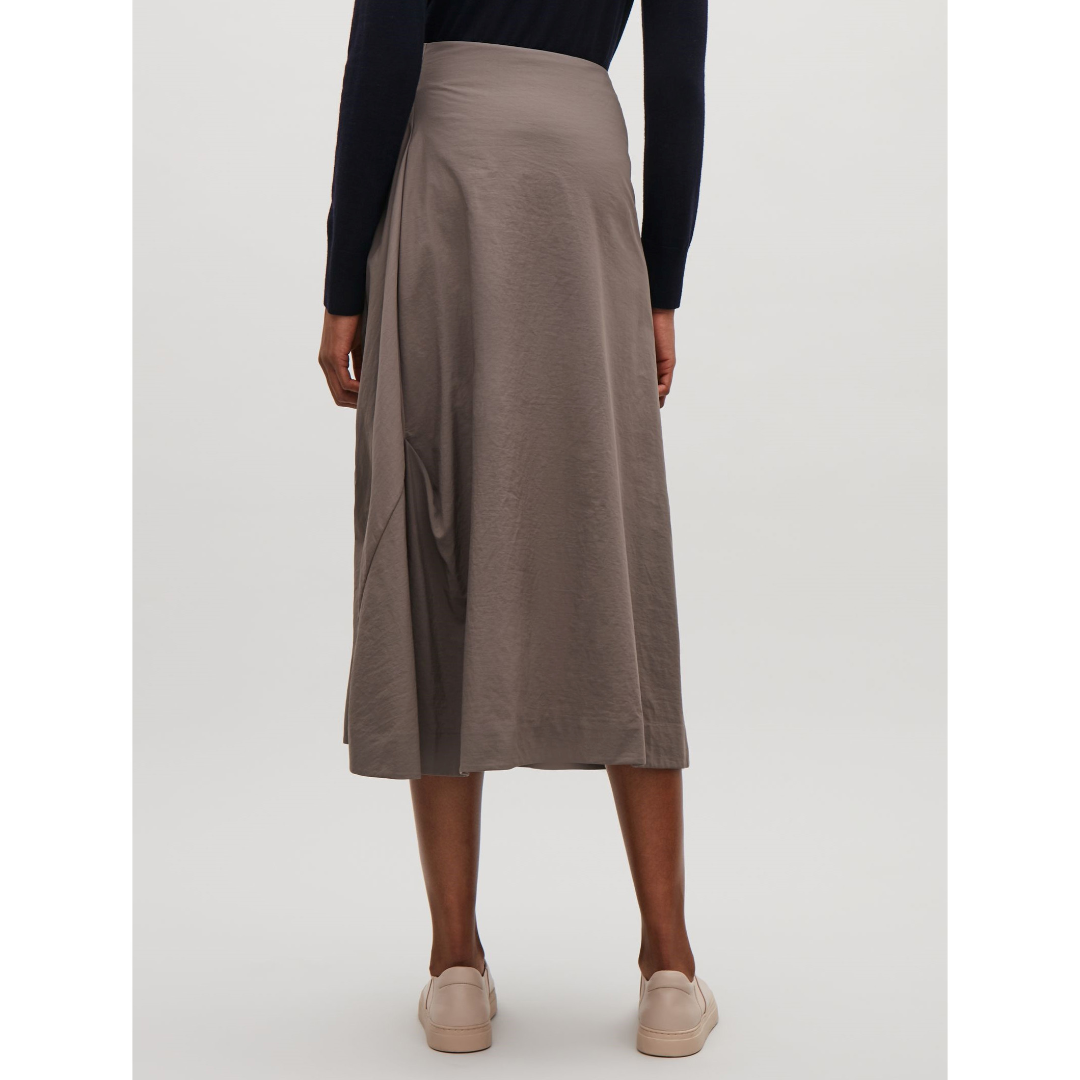 COS☆TECHNICAL A-LINE SKIRT / taupe