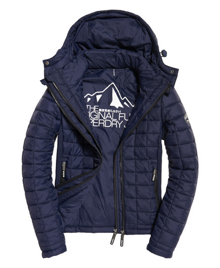 "superdry(乾燥しなさい) ""Hooded Box Quilt Fuji Jacket""(関送込"