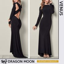 Venus*BACK DETAILED LONG DRESS