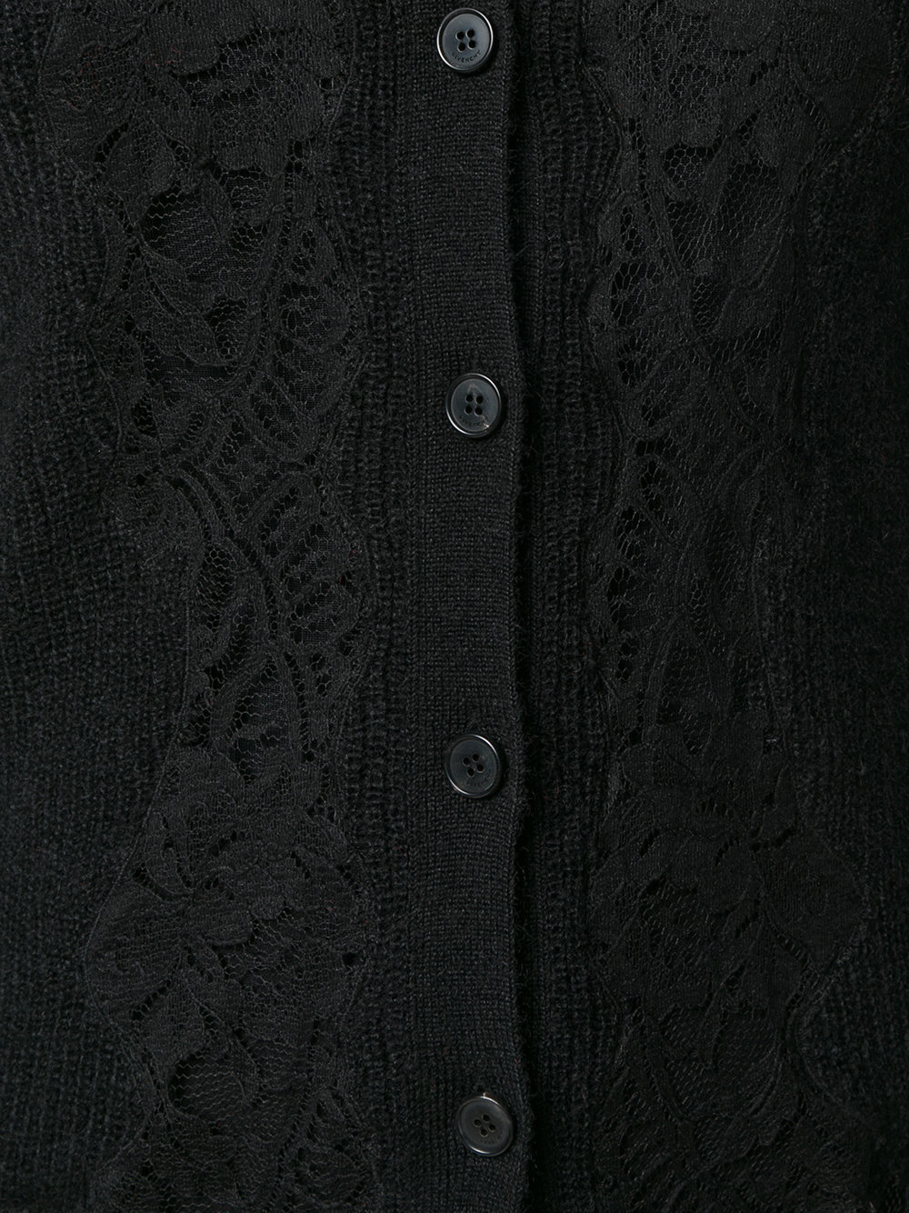 17-18AW G170 RIBBED KNIT CARDIGAN WITH LACE PANEL