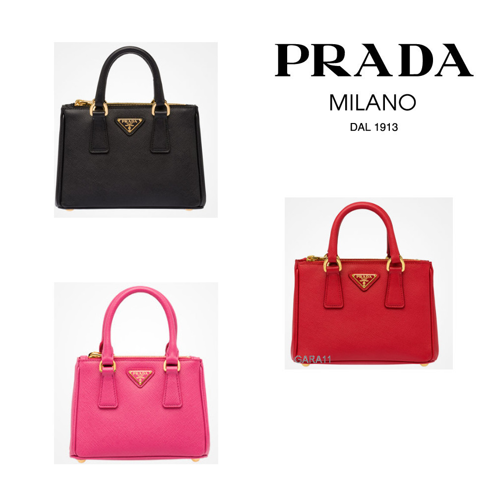 ●PRADA●冬新作♪Galleria saffiano leather mini bag♪3色展開