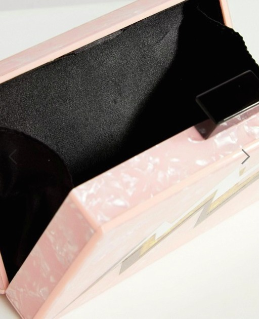 ☆送料込☆ASOS Lightning Bolt Marble Clutch Bag