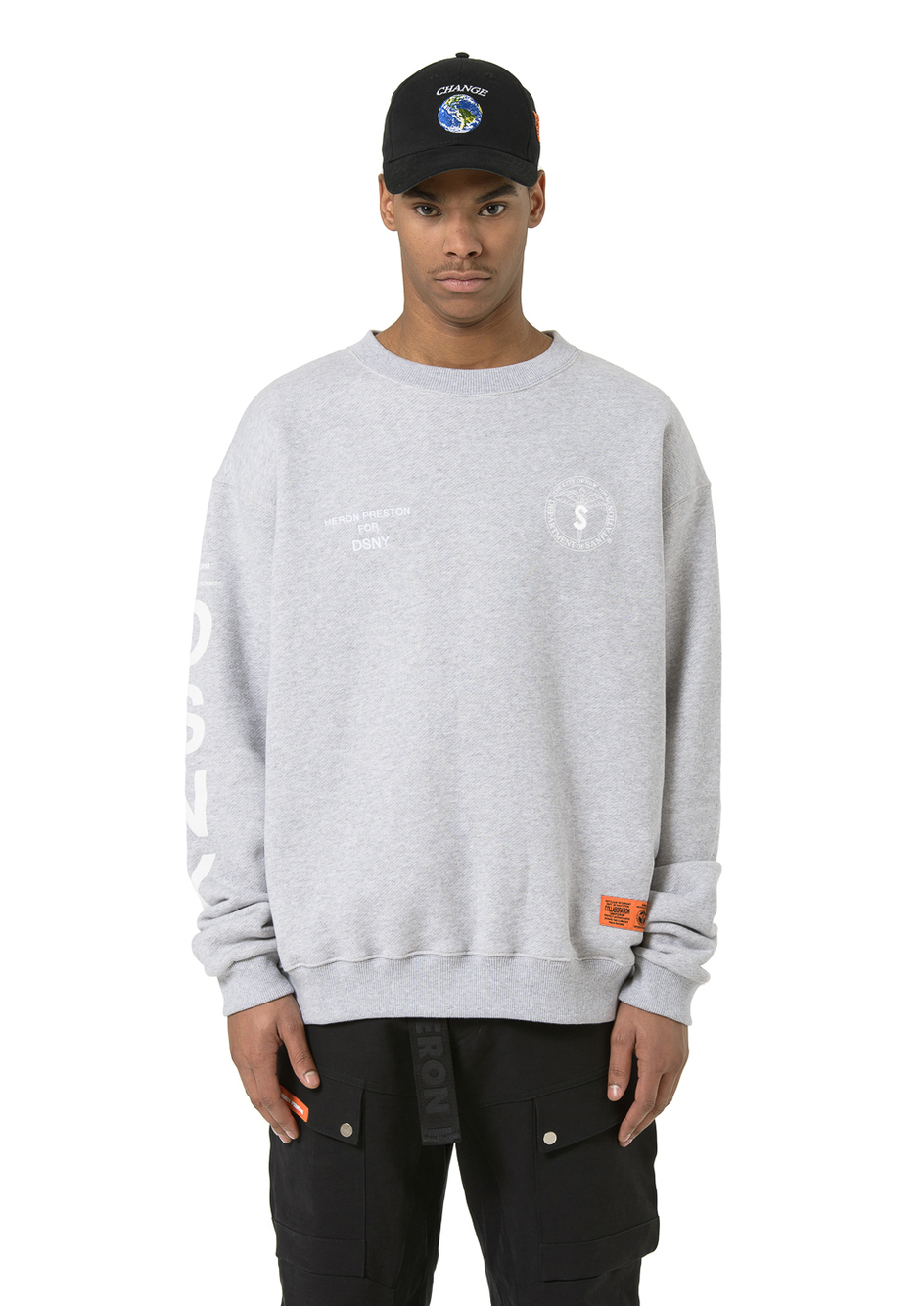 【HERON PRESTON】日本未入荷 Melange grey DSNY sweat