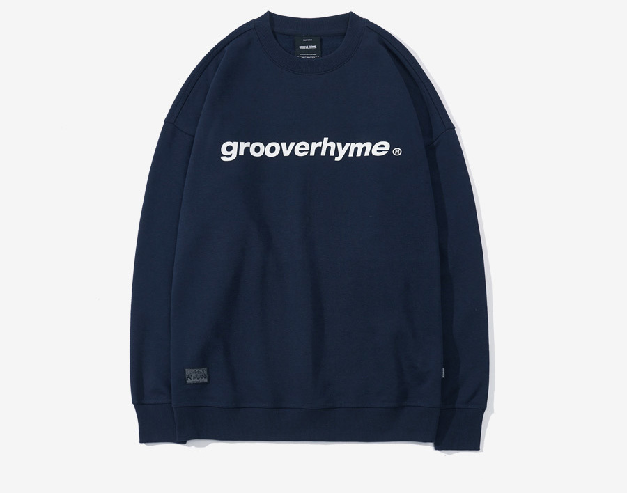 GROOVE RHYME 2017 THICK FILM PRINT MTM OVER FIT (navi)