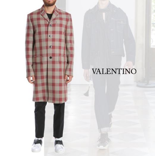 【VALENTINO】JAMIE REID EMBROIDERED WOOL COAT