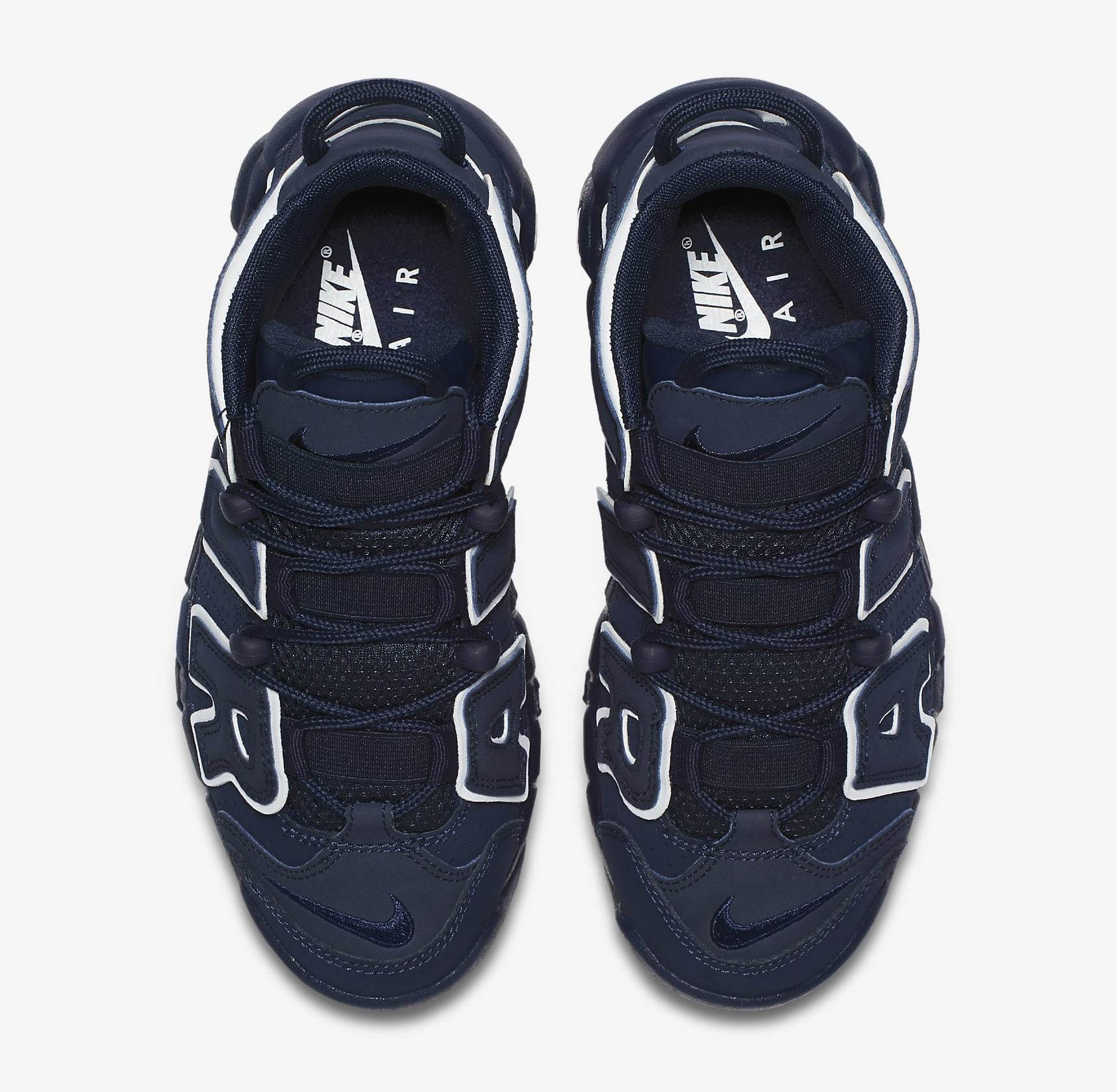 FW17 NIKE AIR MORE UPTEMPO GS OBSIDIAN 紺 22.5-25cm 送料無料