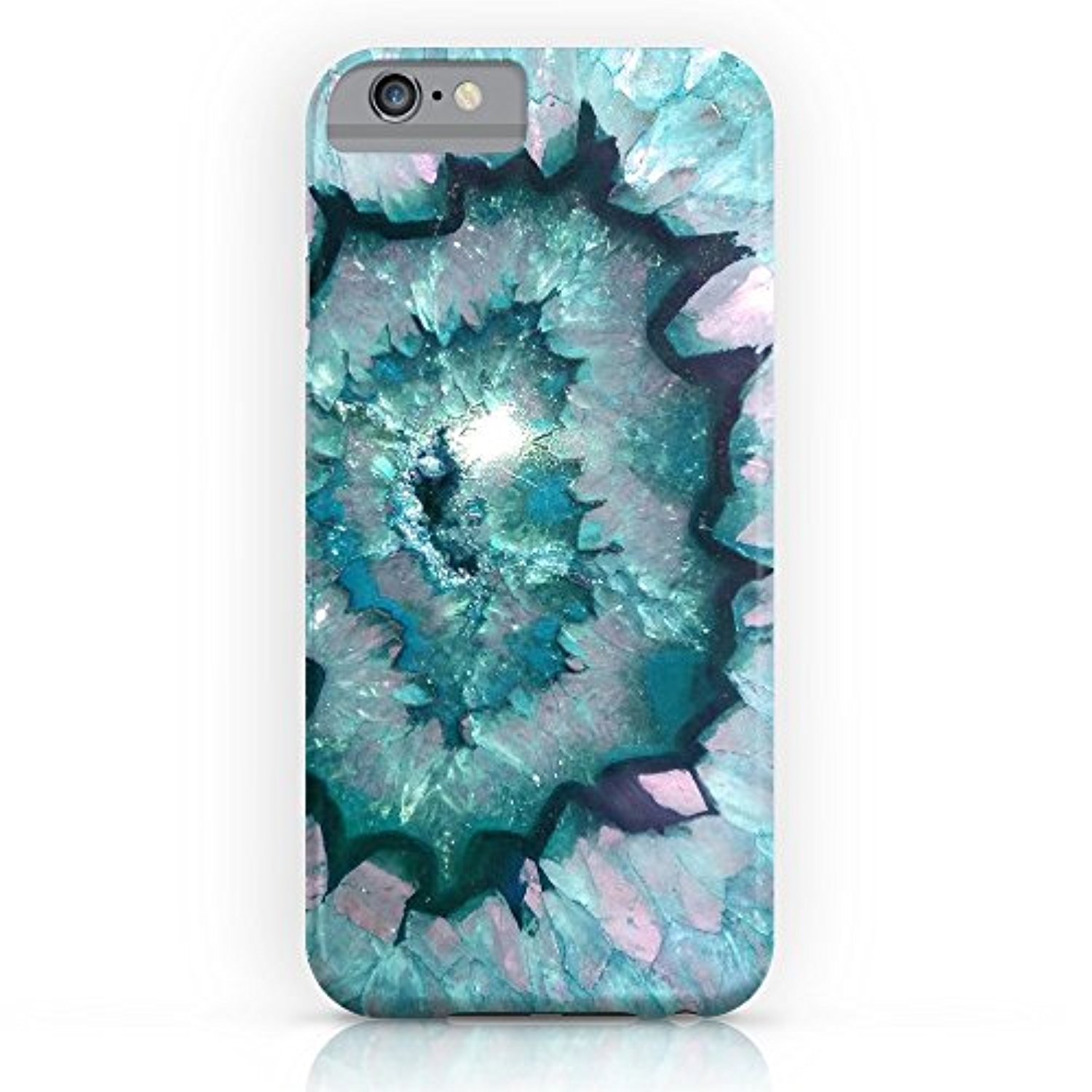 Society6 Teal Agate Slim Case iPhone 7