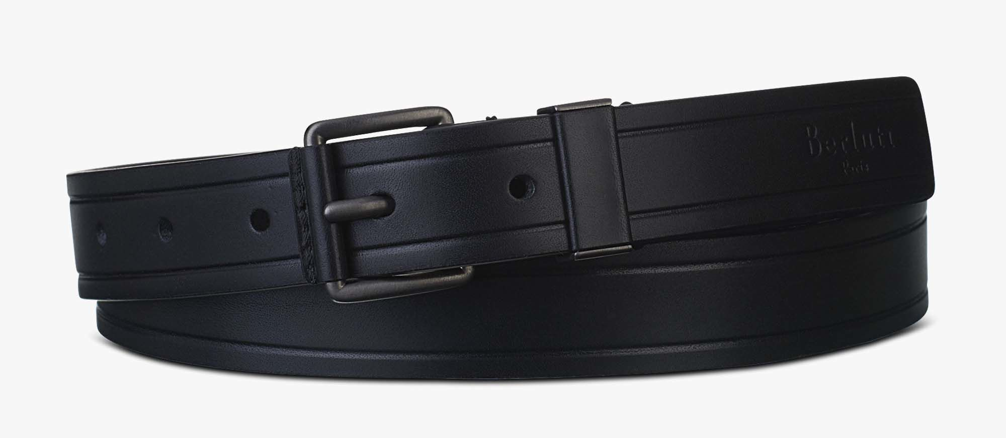送料関税込!2018AW新作 Berluti Sniper Leather Belt - 25mm