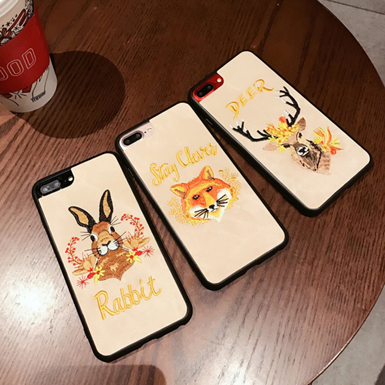 iphone8 8plus iphoneX 7 7plus 6s 6 6splus ケース 刺しゅう 3D