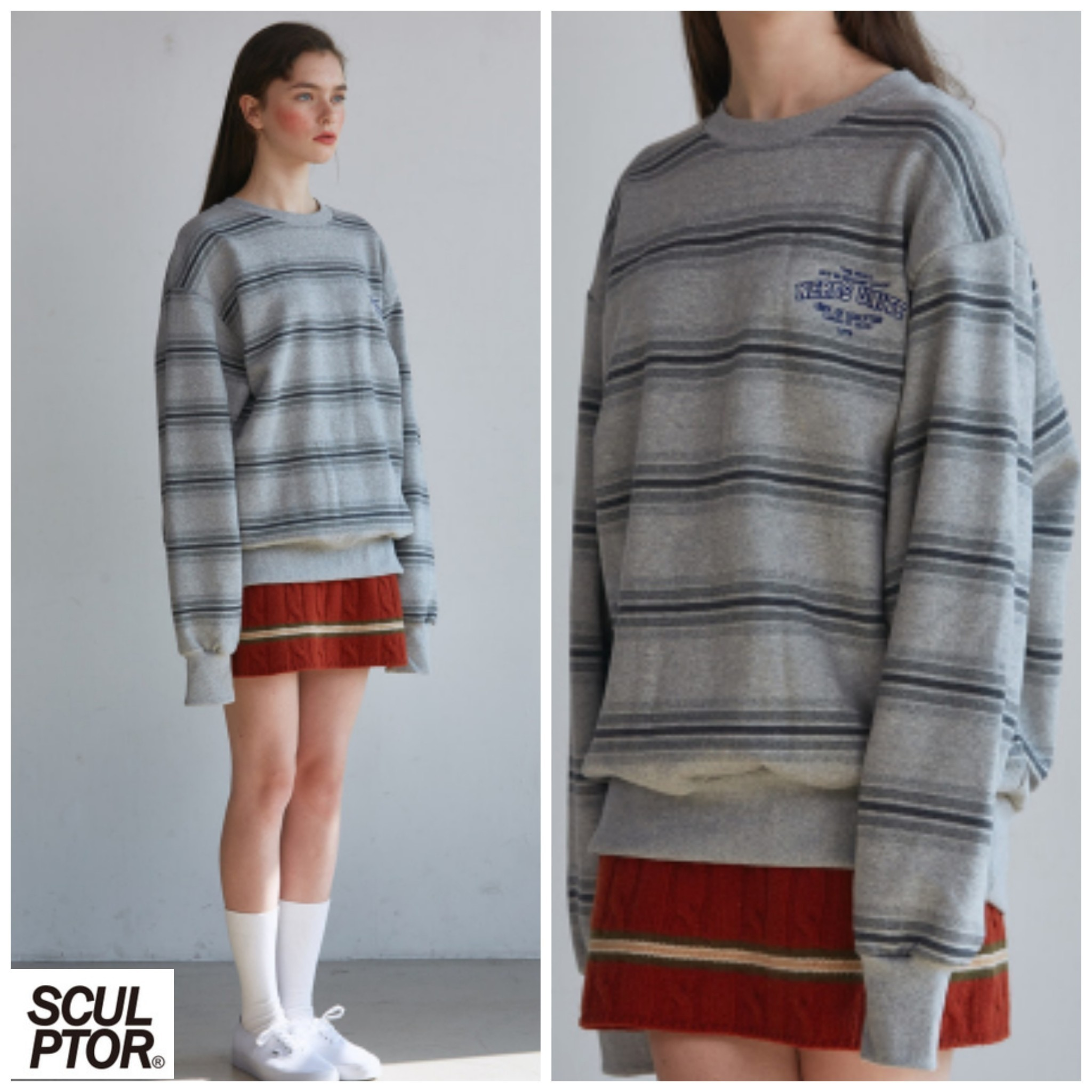 新作★SCULPTOR(スカルプター)★NERD UNITED SWEATSHIRT [GREY]
