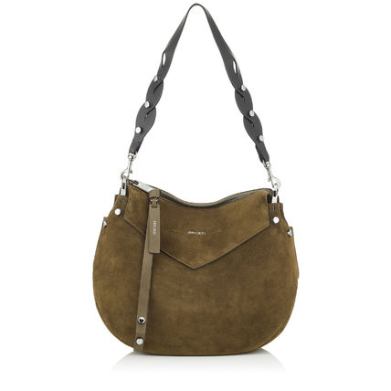 (関税送料無料)jimmy Choo Olive Suede Shoulder Bag ♪172