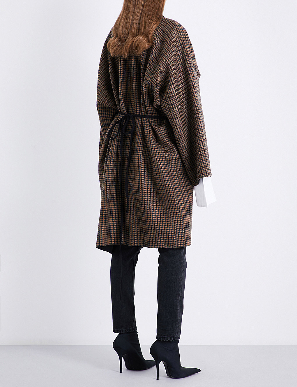 【国内発送】BALENCIAGA Robe wool-blend coat