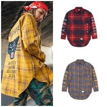 STIGMAのBLACK PANTHER OVERSIZED WOOL CHECK SHIRTS 全3色