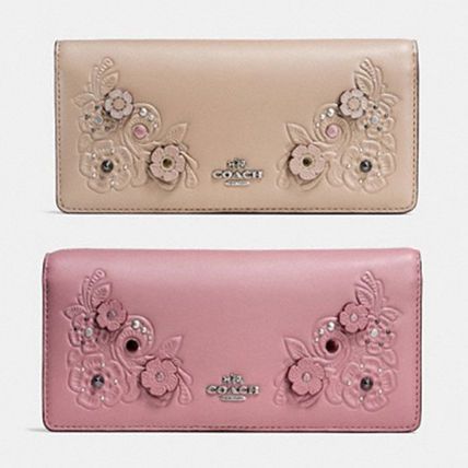 Slim Wallet With Willow Floral スリム長財布