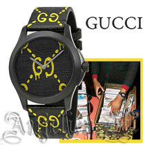 ★追跡付き★GUCCI Ghost  Black and Yellow Dial  YA1264018