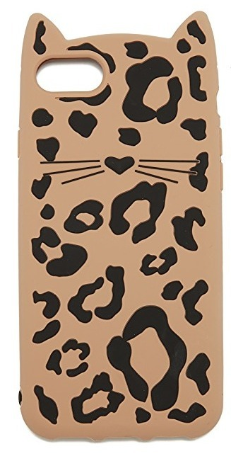 【国内送】セール!Kate Spade☆Silicone Cheetah Cat iPhone7/8