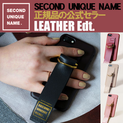 SECOND UNIQUE NAME スマホケース・テックアクセサリー 【NEW】「SECOND UNIQUE NAME」 LEATHER EDITION 正規品