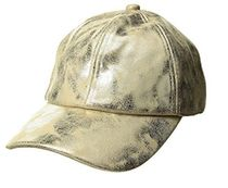 人気!Metallic Faux Leather Baseball Cap 関税送料込み!
