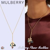 Mulberry☆Mulberry Flower Necklace-Soft Gold Brass Enamel-