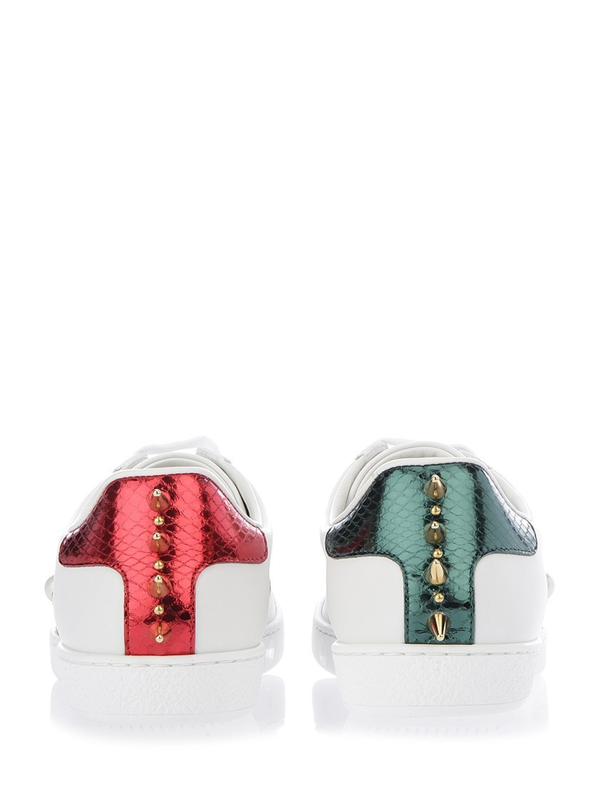 【グッチ】New Ace Sneakers With Faux Pearls スニーカー