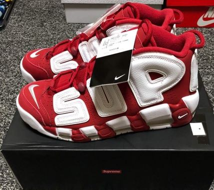 Supreme X Nike Air More Uptempo Red 国内発送