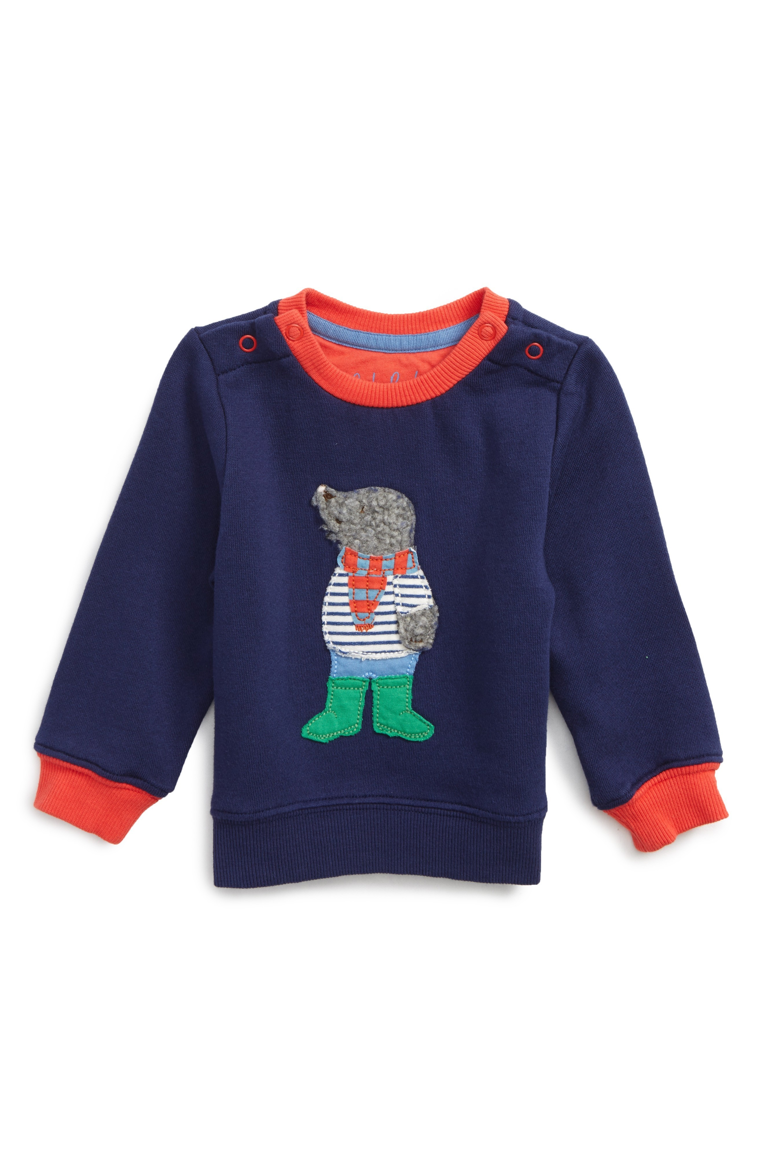 可愛い Boden Applique Cozy Sweatshirt (Baby Boys & Baby Boys