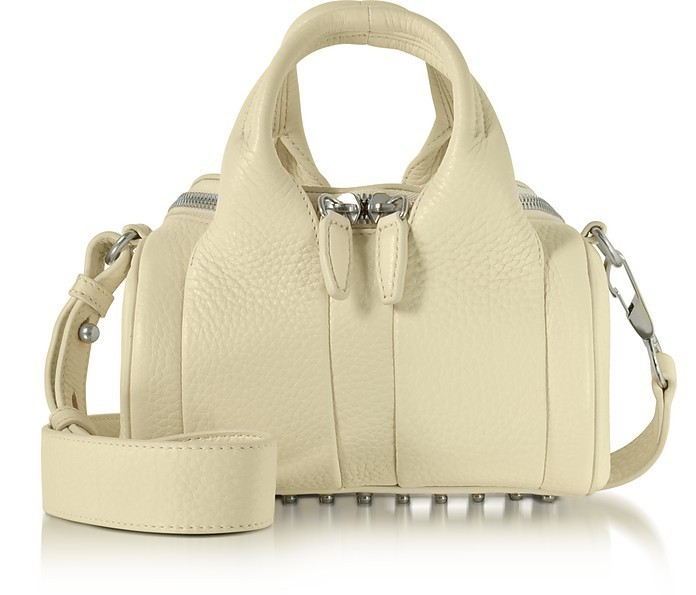 送料無料!☆ Cream Soft Pebble Leather Mini Rockie Satchel