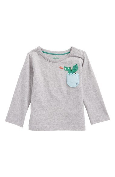 可愛い Boden Adventure Pocket T-Shirt (Baby Boys & Baby Boys