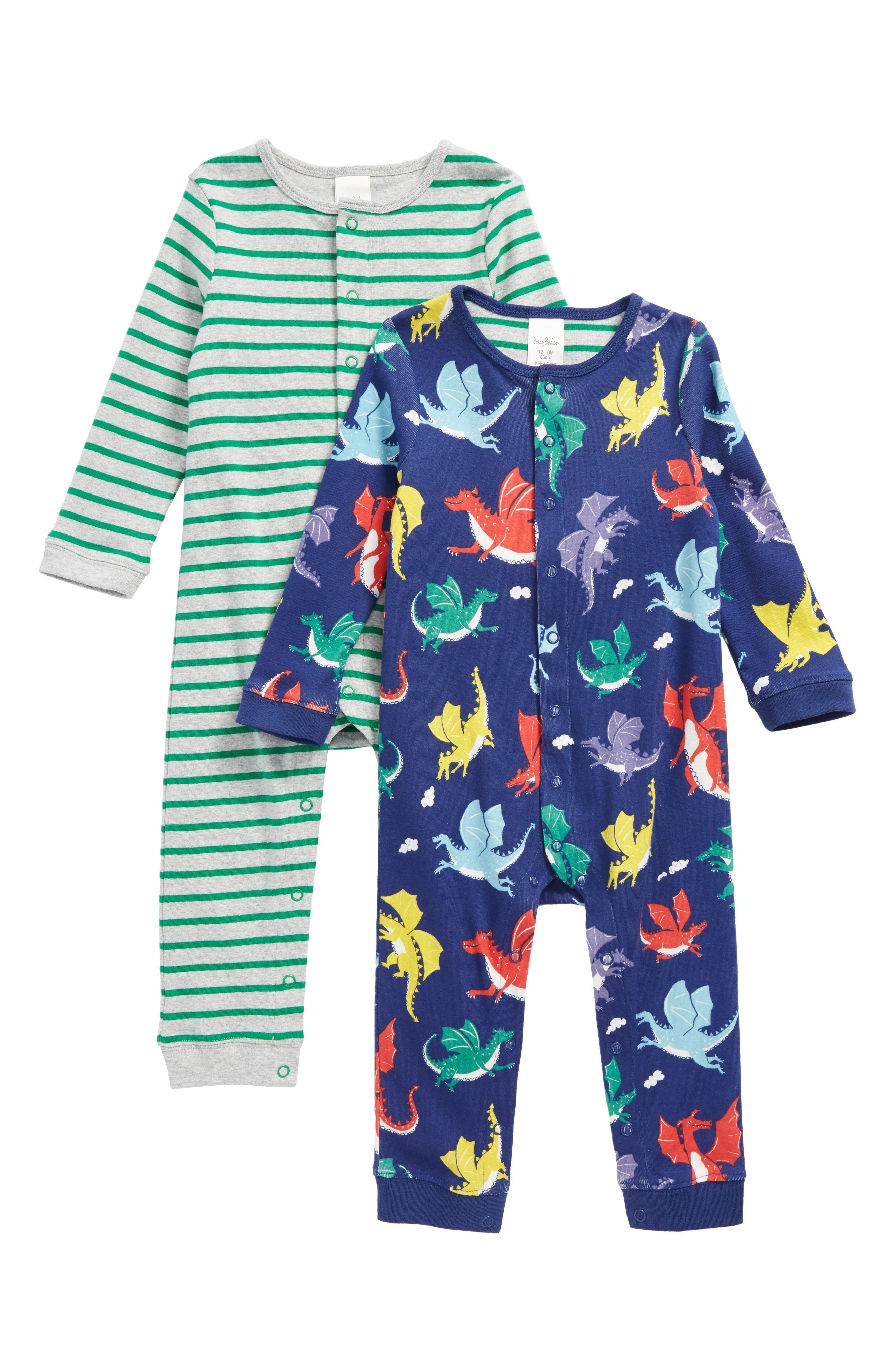 可愛い Boden Fun Set of 2 Rompers Baby Boys