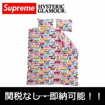 国内発 Supreme HYSTERIC GLAMOUR Text Duvet + Pillow Set