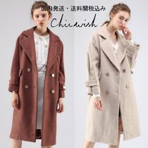 国内発・送関込☆Chicwish☆Charm Longline Wool-Blend Coat