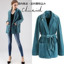 国内発送・送料関税込☆Chicwish☆Cozy Up A Bit Velvet Coat