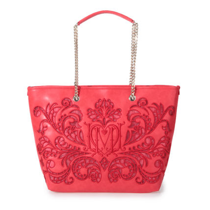 ★Love Moschino★ Embroidered shopping tote bag red「即発」