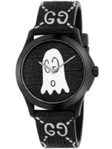 【SALE☆入手困難】GUCCI G-TIMELESS Black with Ghost Motif