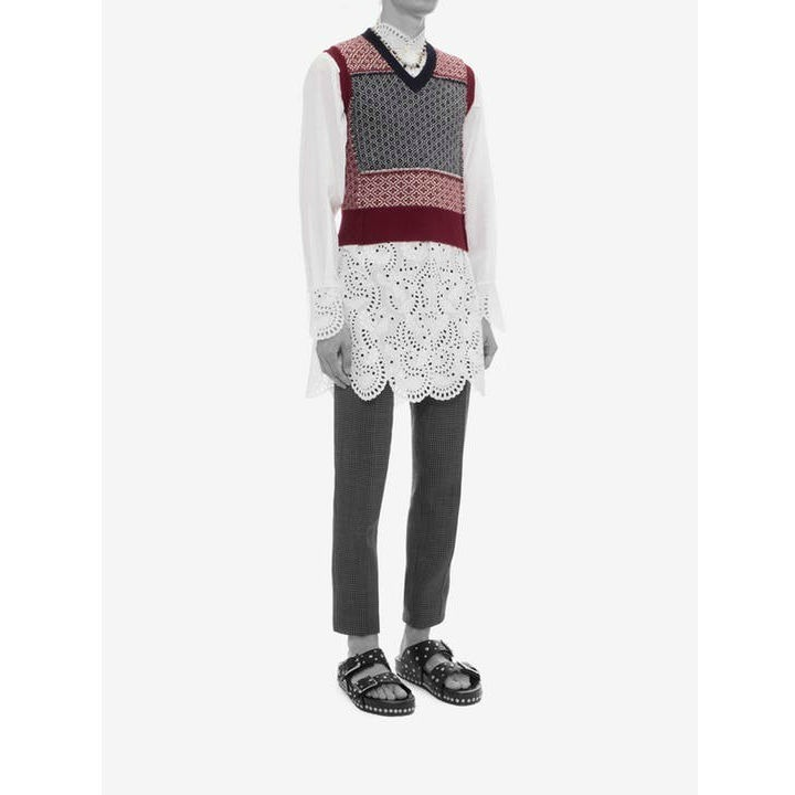*Alexander McQueen*Wool Vest RED / MULTICOLOR ウールベスト
