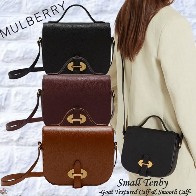 Mulberry☆Small Tenby-Goat Textured Calf & Smooth Calf-