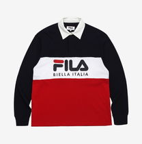 FILA Linear Logo Rugby Shirt リニアポロシャツ ロングシャツ