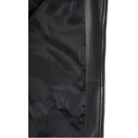 【VALENTINO】LEATHER BIKER JACKET WITH LOVEBLADE EMBROIDERY