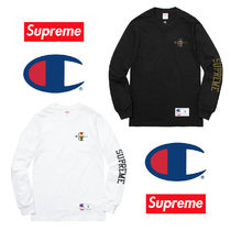送料込 Supreme Champion Stacked C L/S Tee コラボ
