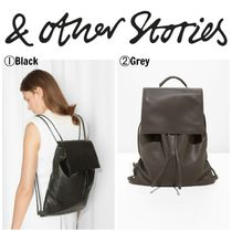 【&OtherStories】●日本未入荷●Flap Leather Backpack